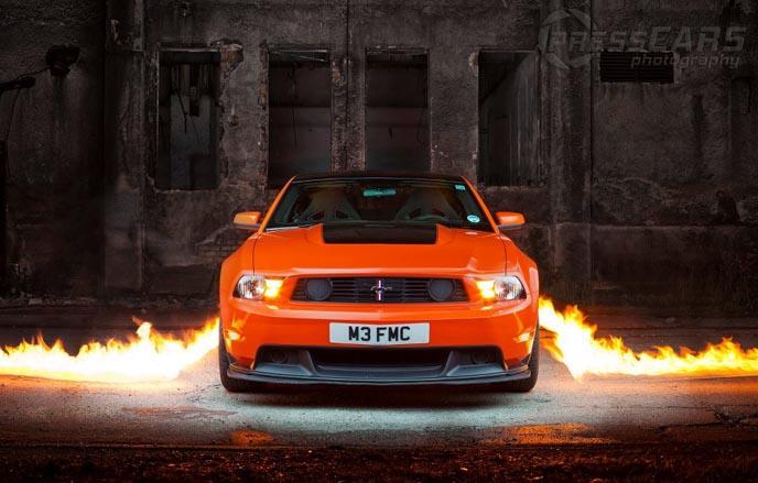Anta Agni Mustang Car in Fire