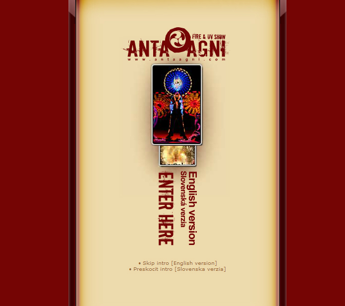 Anta Agni Old Website - Fireshow and UV Show