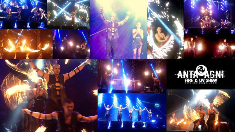 Anta Agni Stage Fire Show - Firedancers on Sunny Lakes