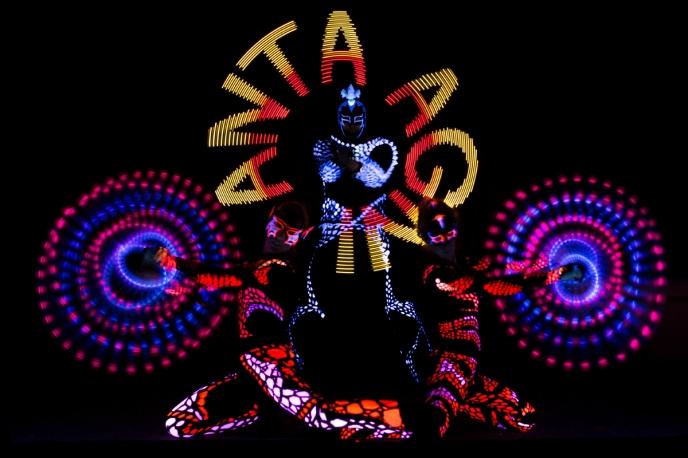 Anta Agni Visual Pixel Poi - UV Light Show