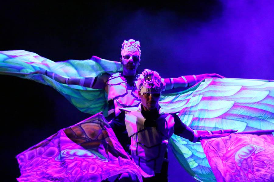 Anta Agni UV Light Show Dance Teatro Del Fuoco Mittelfest