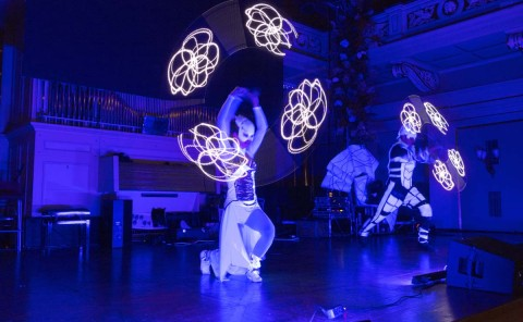 Anta Agni UV Light Show Entente Florale Brno