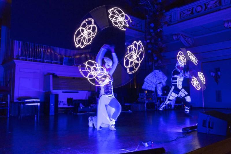 Anta Agni UV Light Show Entente Florale Brno