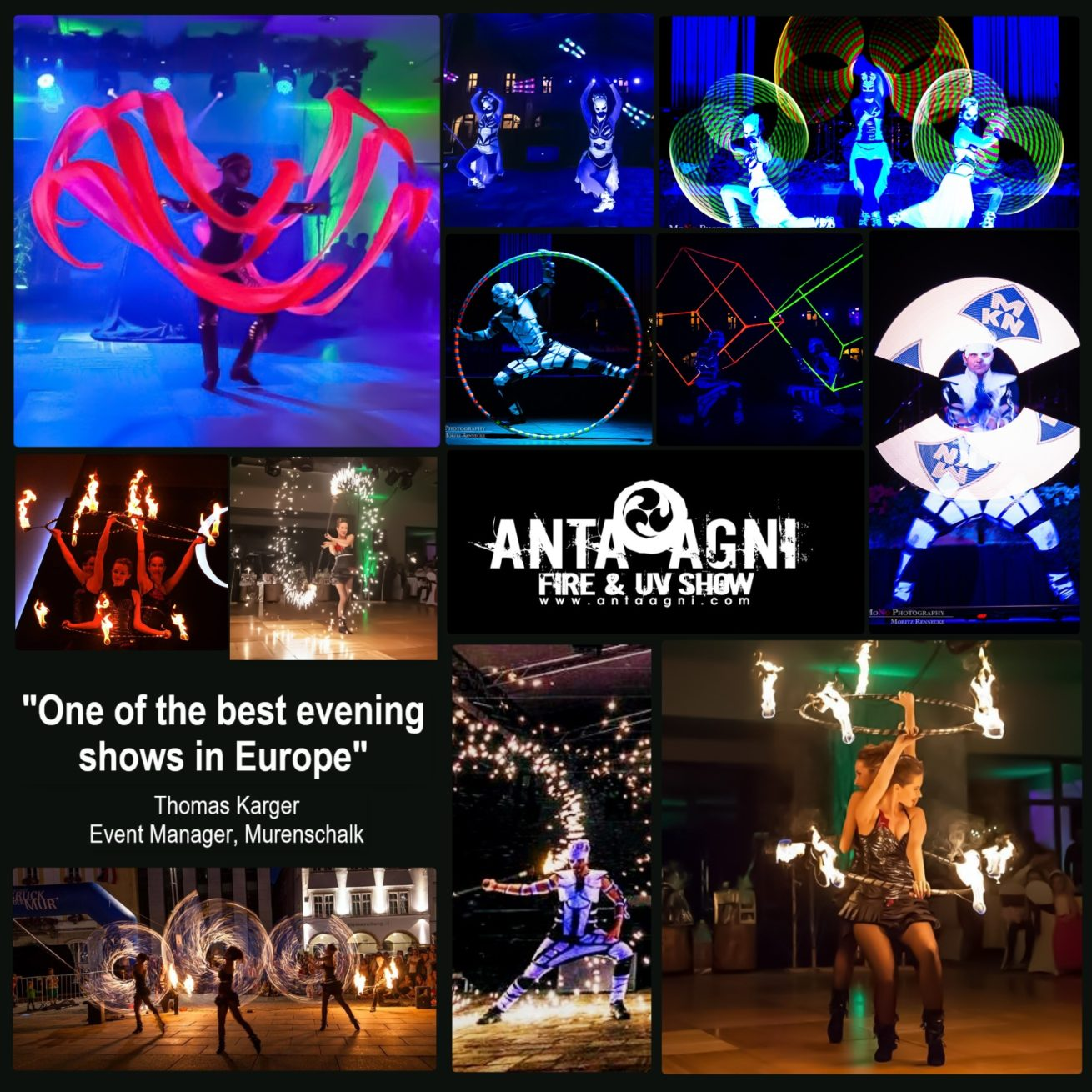 Anta Agni Fire and UV Light Show Events Clients