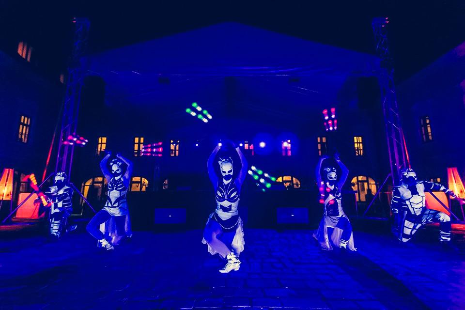 Anta Agni Grand Opening Viglas UV Light Light Show