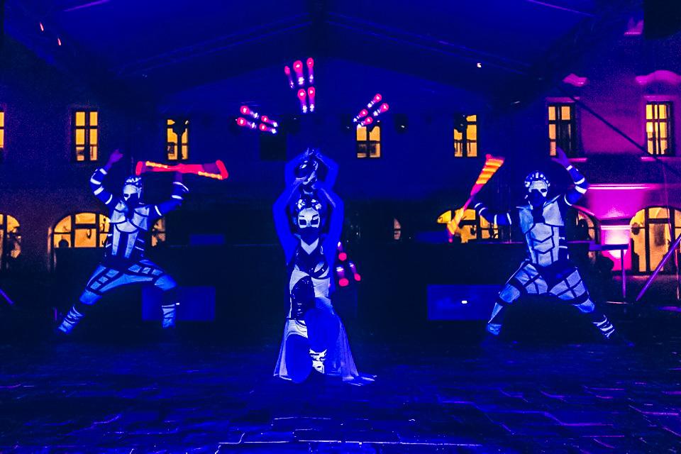 Anta Agni Grand Opening Viglas UV Light Show
