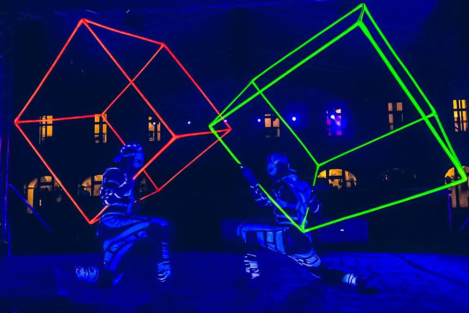 Anta Agni Grand Opening Viglas UV Light Cube Juggling