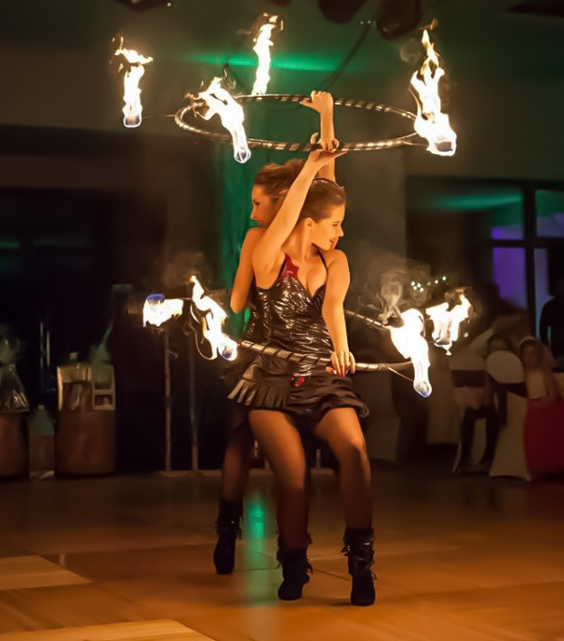 Anta Agni New Years Eve Fire Show Hula Hoop