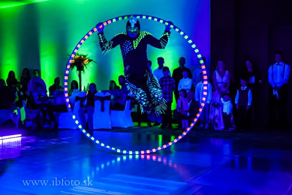 Anta Agni New Years Eve UV Show Cyr Wheel Hotel