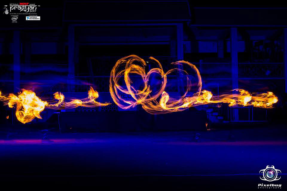 Anta Agni Fireshow dancers Pragyan Festival