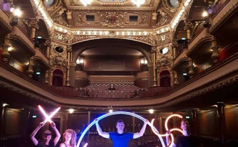 LED Light Show in Victoria Hall - Anta Agni performers
