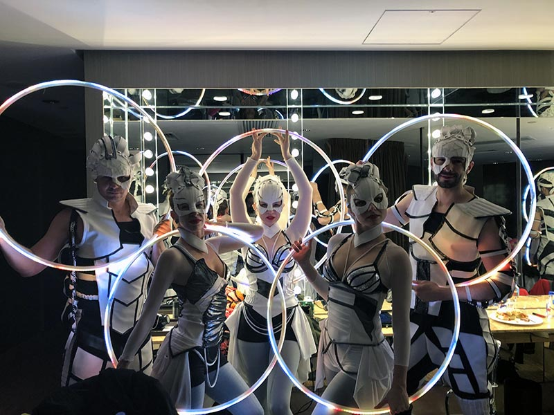 Anta Agni Light Show in Hong Kong - performers in backstage