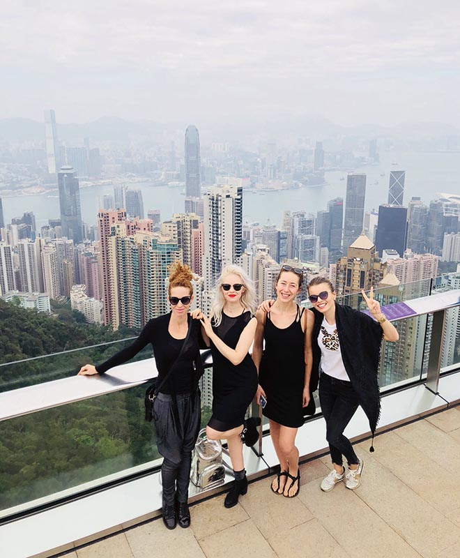 Anta Agni girls - free time after the show in Hong Kong