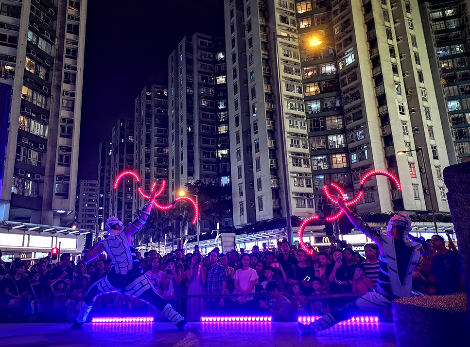 LED Buugeng Act - Light Show Hong Kong