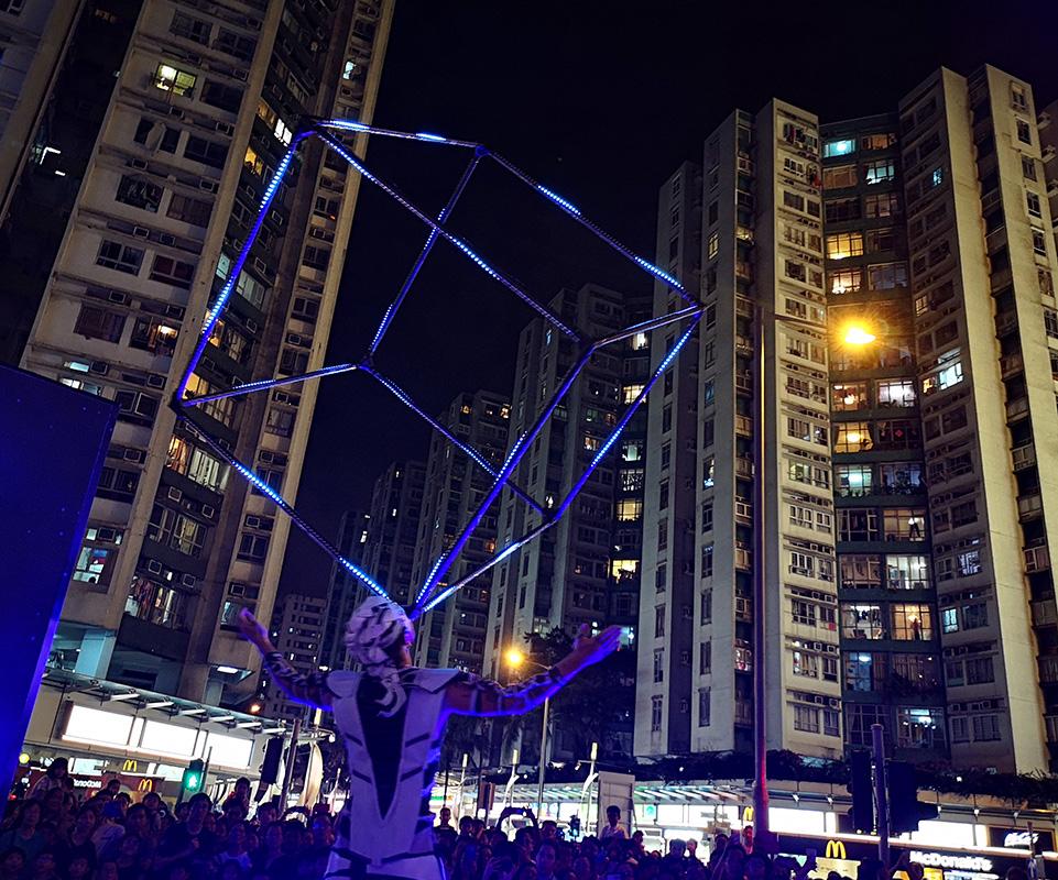 LED Cube Juggler - Hong Kong Show