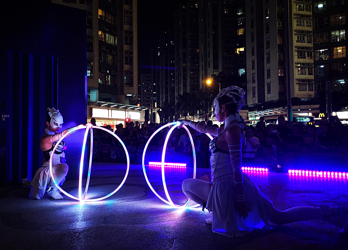 Hula Hoop Act - Light Show Hong Kong