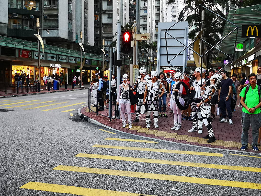Light Show - Anta Agni - Walking Streets in Costumes - Hong Kong
