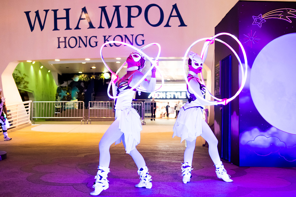 LED Hula Hoop Performers Light Shows
