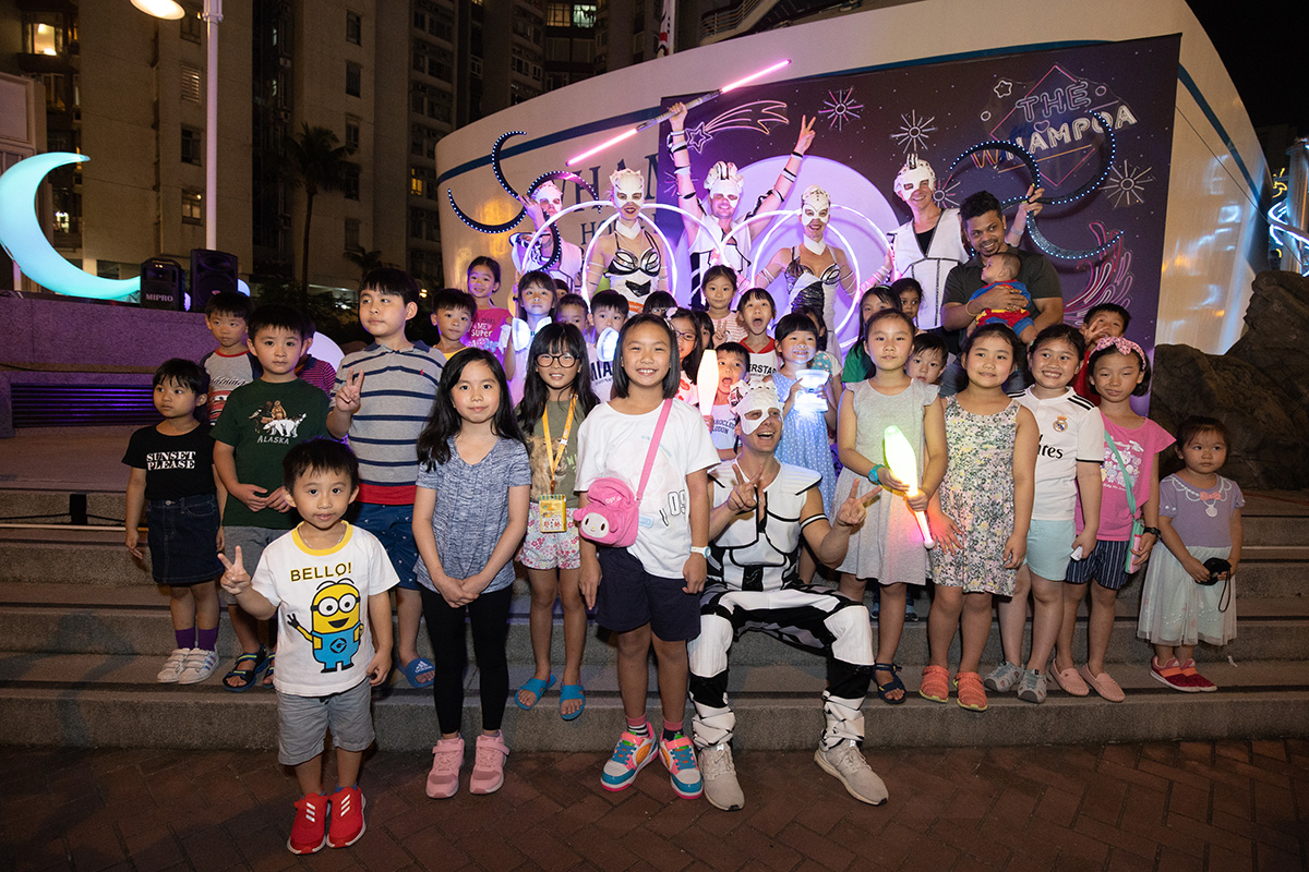 Anta Agni Light Show Performers Kids