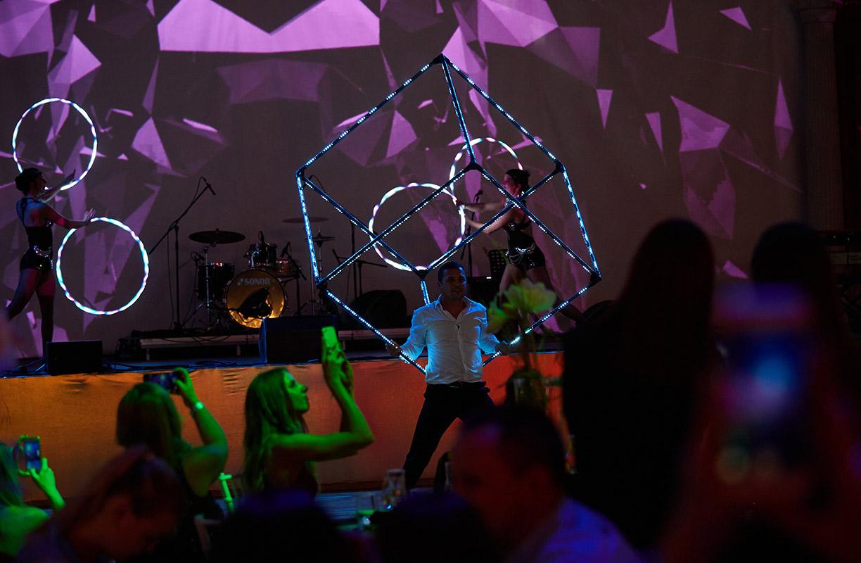 LED Cube Juggling Cabaret Act - Anta Agni