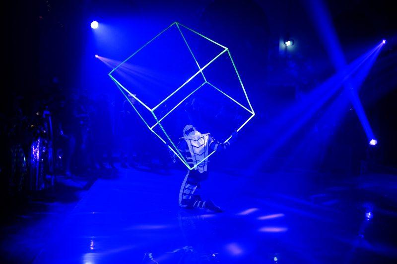 Visual Pixel Poi - NASA logo - Black Light Dancers - UV Glow Show