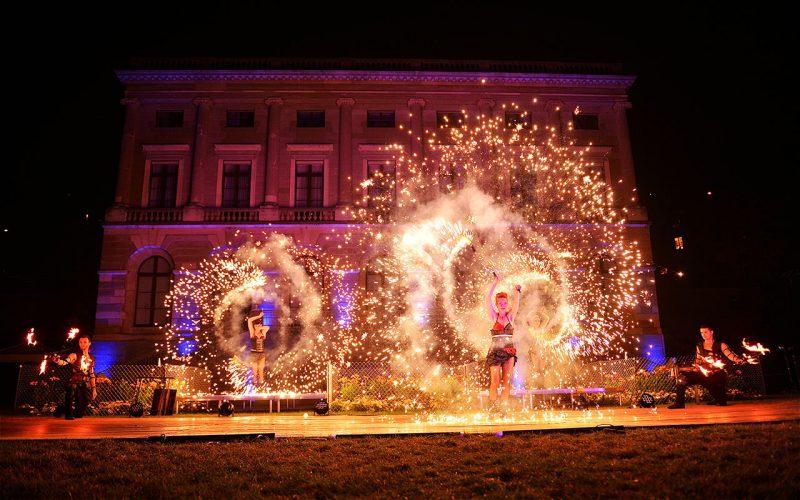 Firedancer with Big Pyro Effect - Anta Agni Fire Show